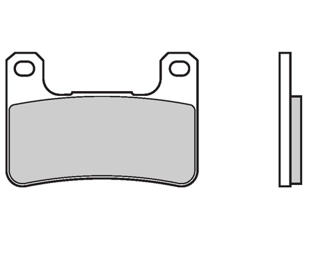 Brake Pads Brembo 07SU27SC Sintered Racing (1 couple for 1 disk), for radial calipers (Suzuki MY 03 excluded)