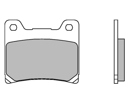 Brake Pads Brembo 07YA11SP Rear Sintered Street (1 couple for 1 disk)