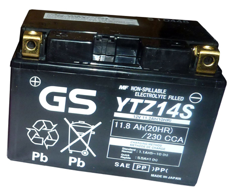 Gs Yuasa Battery Ytz14s For Honda Transalp 700 In Batteries
