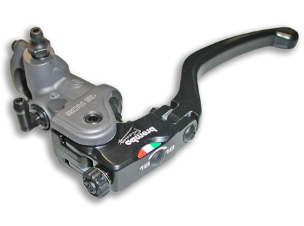 Radial Clutch Master Cylinder Brembo 16RCS, Fold-Up Lever, 16-18 ratio