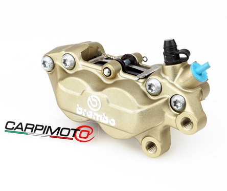 Brembo P4-30/34 Caliper, Color Gold, Front Right, with pads 07BB1535, 40mm mounting