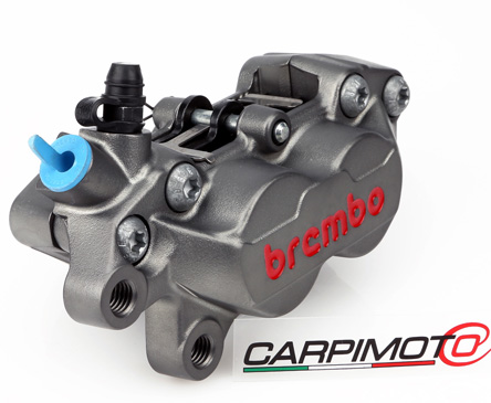 Brembo P4-30/34 Caliper, Color Titanium, Front Left, with pads 07BB1535, 40mm mounting