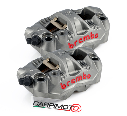 Brembo Set Monobloc GP4 RS Radial Calipers 108mm mount, left + right hand, with pads (2 pads)