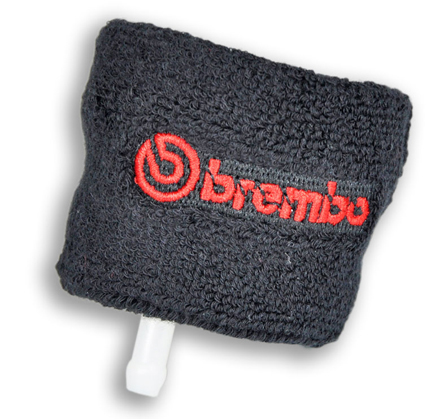 Brembo Terry-Cloth Wristband Brake Fluid Reservoir Protector, Genuine Brembo Part