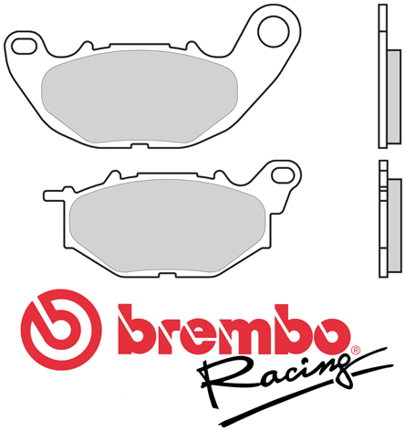 Brake Pads Brembo M068Z04 Racing Z04 Compound (2 pads for 1 disk), for Yamaha YZF-R3, MT-03, Brembo pn 107A48606
