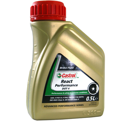 Castrol Brake Fluid React Performance DOT4, 500 ml