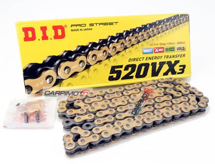 520-O-120 links O ring Gold Motorcycle Chain For KTM honda bmw Chain Breaker