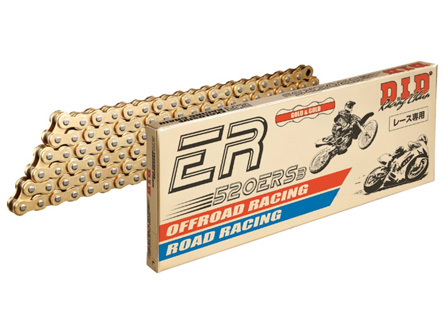 DID 520 ERS3 Gold & Gold Chain, 120 links, 520 size, GP racing