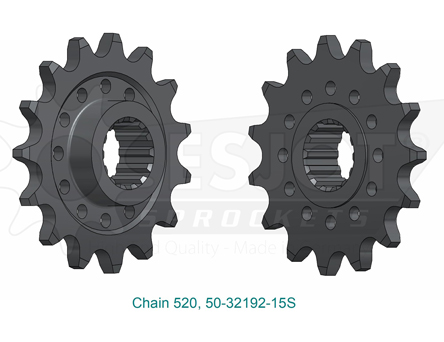 ESJOT Front Sprocket Ducati Hypermotard 950, SuperSport 939, Scrambler 1100, 520 chain, 15 teeth