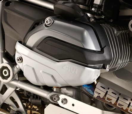 Motorcycle Cylinder Head Guards Covers Engine For BMW R1200 GS ADV 13-16 Silver