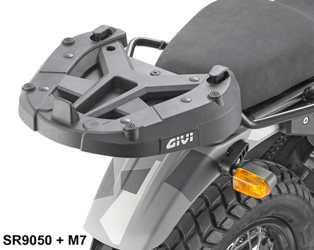Givi SR9050 Royal Enfield Himalayan Rear Rack specific for Monokey or Monolock top case; works with M5 / M5M / M6M / M7 plate (not included)