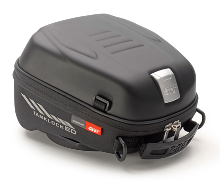 Givi TanklockED Fuel Tank Bag ST605B, 5 liters, requires specific tank flange