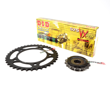 D.I.D 530VX-126 Steel 126-Link High Performance X-Ring Chain with Connecting Link