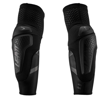 Leatt 3DF 6.0 Elbow Guards, TWO Protections, color Black, size XL