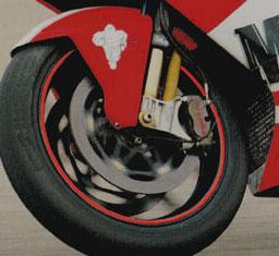 KIT STRISCE ADESIVE compatibili per CERCHI 17 MOTO YAMAHA YZF-R1 GIALLO FLUO