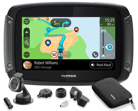 TomTom RIDER 550 Premium Pack World Maps Motorcycle and Car Navigator, pn 1GF0.002.10