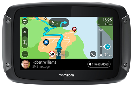 TomTom RIDER 550 World Maps Motorcycle and Car Navigator, pn 1GF0.002.10