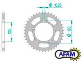 Aprilia MX125 03-07 AFAM JT Chain And Sprocket Kit