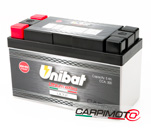 Unibat Lithium eXtra BMS Battery ULT2, CCA 300A, Capacity 5Ah, Weight 0,8 Kg, dim. 150x65x93mm
