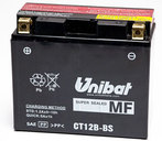 Unibat Battery CT12B-BS, 11A, CCA 180A, LH polarity, 151x70x130mm (Ducati Y2K - on), AGM Battery Maintenance Free