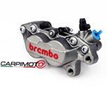 Brembo P4-30/34 Caliper, Color Titanium, Front Right, with pads 07BB1535, 40mm mounting