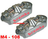 Brembo Set Monobloc M4 34 Radial Calipers 108mm mount, left + right hand, with pads (2 pads), + Thermotape