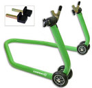 Paddock Rear Stand CM05 Racing Green, sliders included