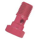 Fren Tubo Banjo Bolt M10x1 mm Single Aluminum color Red