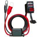"Noco GC016 X-Connect 12 Volt Dashmount Battery Led Indicator, works with Noco, Bosch, 10A Fuse, Length 2mt, 3/8"" Eylet Terminals"