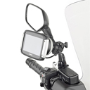 Givi Universal Holder to mount TomTom Rider 40 / 400 / 410 / 42 / 450 / 500 / 550 on Handlebar or Mirror stern