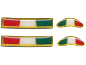 Tricolor Italia 3D Resin Coated Levers/Rearsets/Mirrors stickers, 4 pieces (2x 25x5mm and 2x 14x5mm)