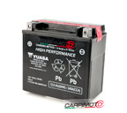Batteria Yuasa YTX14H-BS, 12,6A CCA 240A, positivo SX, 150x87x145mm, High Performance di YTX14-BS