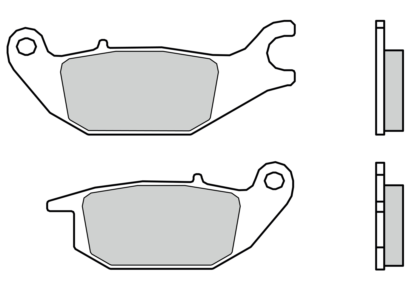 Brembo Brake Pads 07110cc Wiring Diagram Yamaha Aerox Scooter Carbon Ceramic For Tricity 125 14 16 Rear Caliper