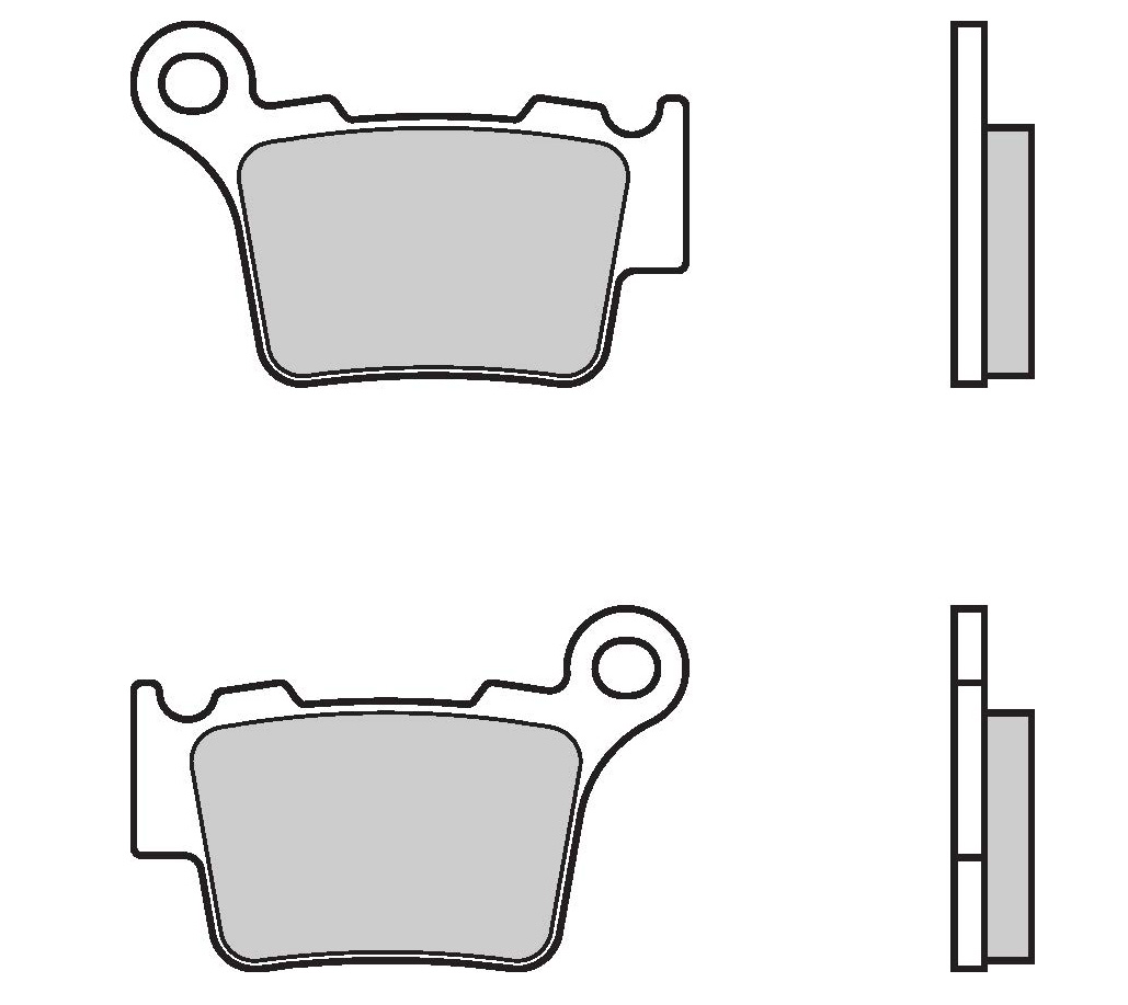 Brembo Brake Pads 07bb275a For Ktm 125 Exc Sx In Wiring Diagram Six Days 200 Rear Genuine Parts Sintered Street With Heat Shield 1 Couple