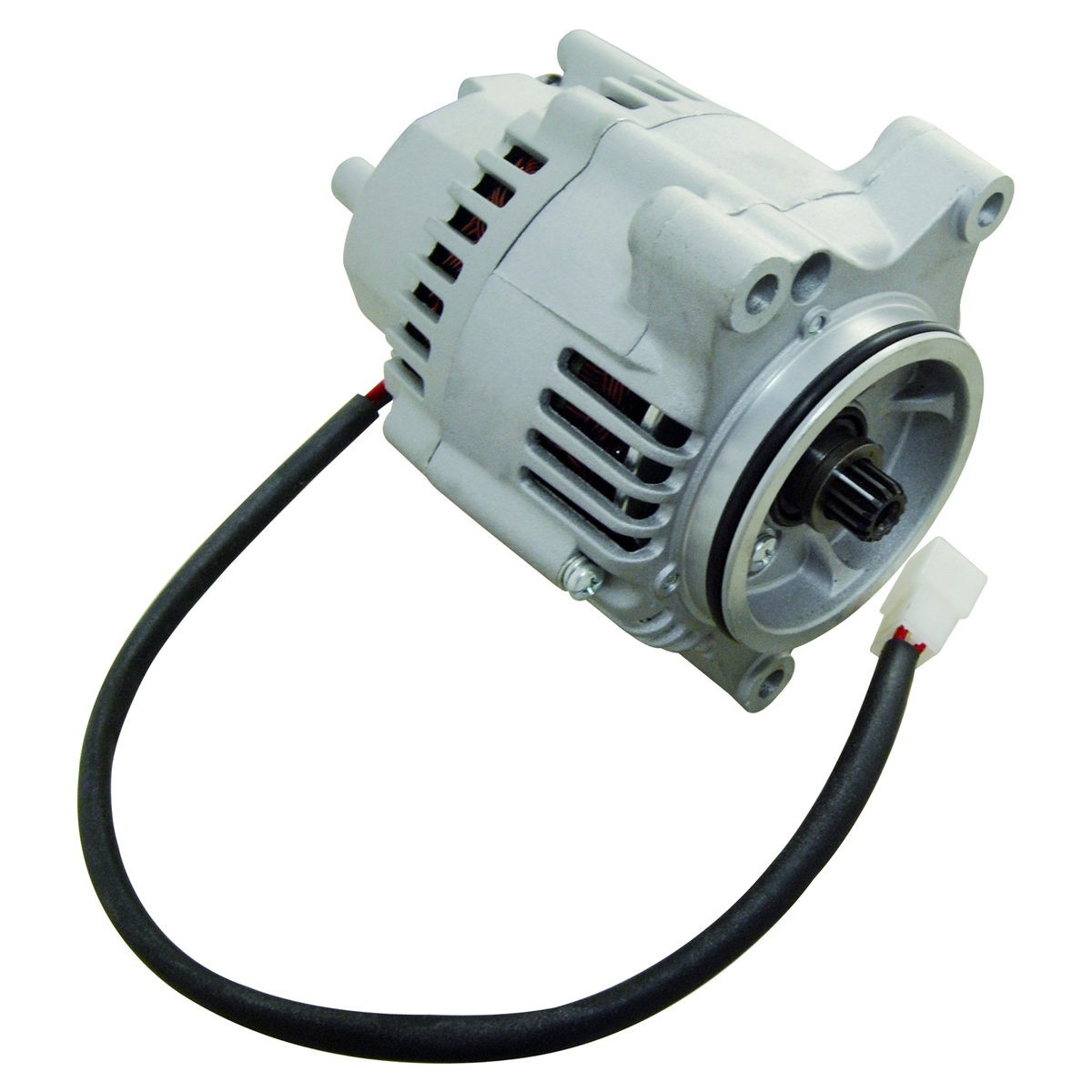 Alternator for Kawasaki ZR 1100 Zephyr 92-95, Lester 12481N, type  Mitsubishi IR/IF, 35 A/12V, Splined Shaft, replaces 210011083, 210011121,  210011123