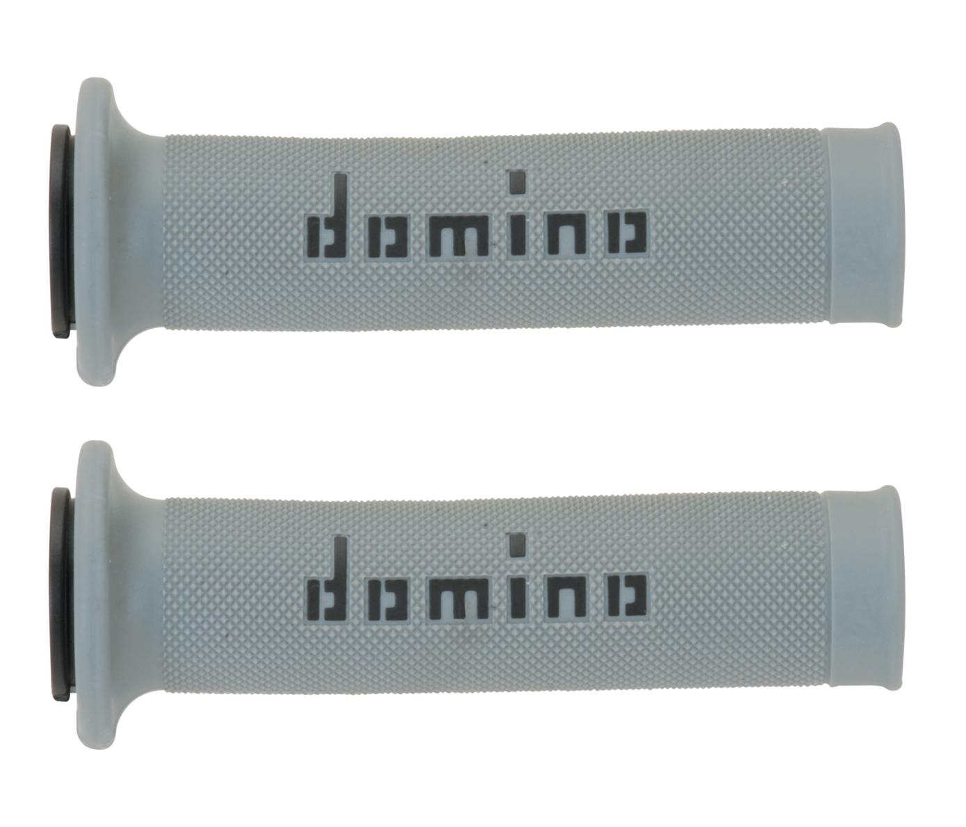 consistenza netta nuova collezione personalizzate Manopole Domino Racing Bicolore Grigio-Nero, Super Soft