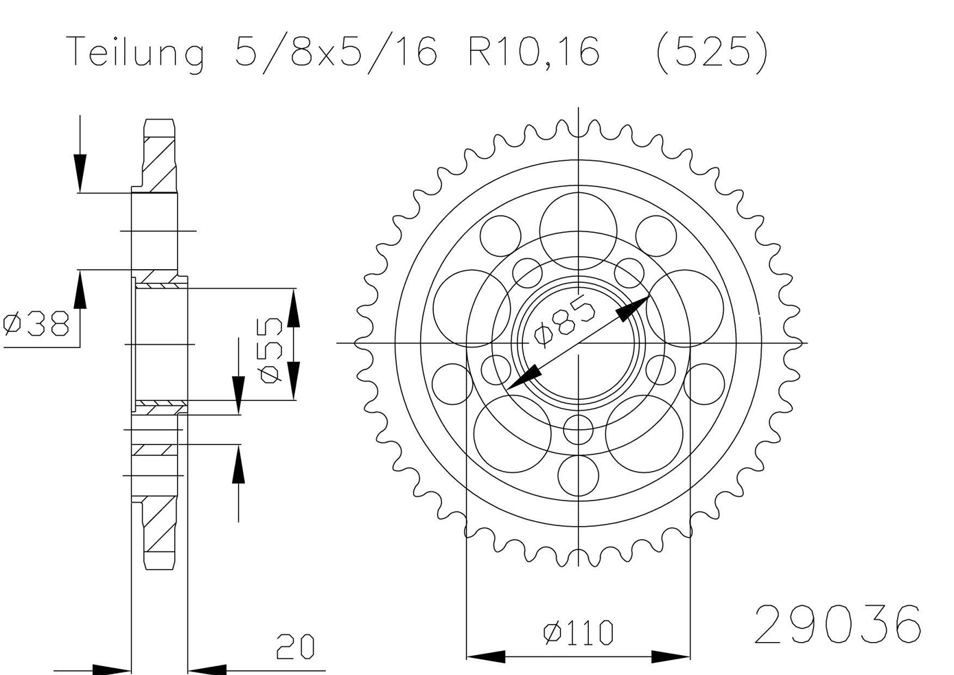 Esjot Steel Rear Sprocket 50 29036 42 For Ducati Hypermotard 1100 S Multistrada 1100s Wiring Diagram Stainless 2009 1000 03 06