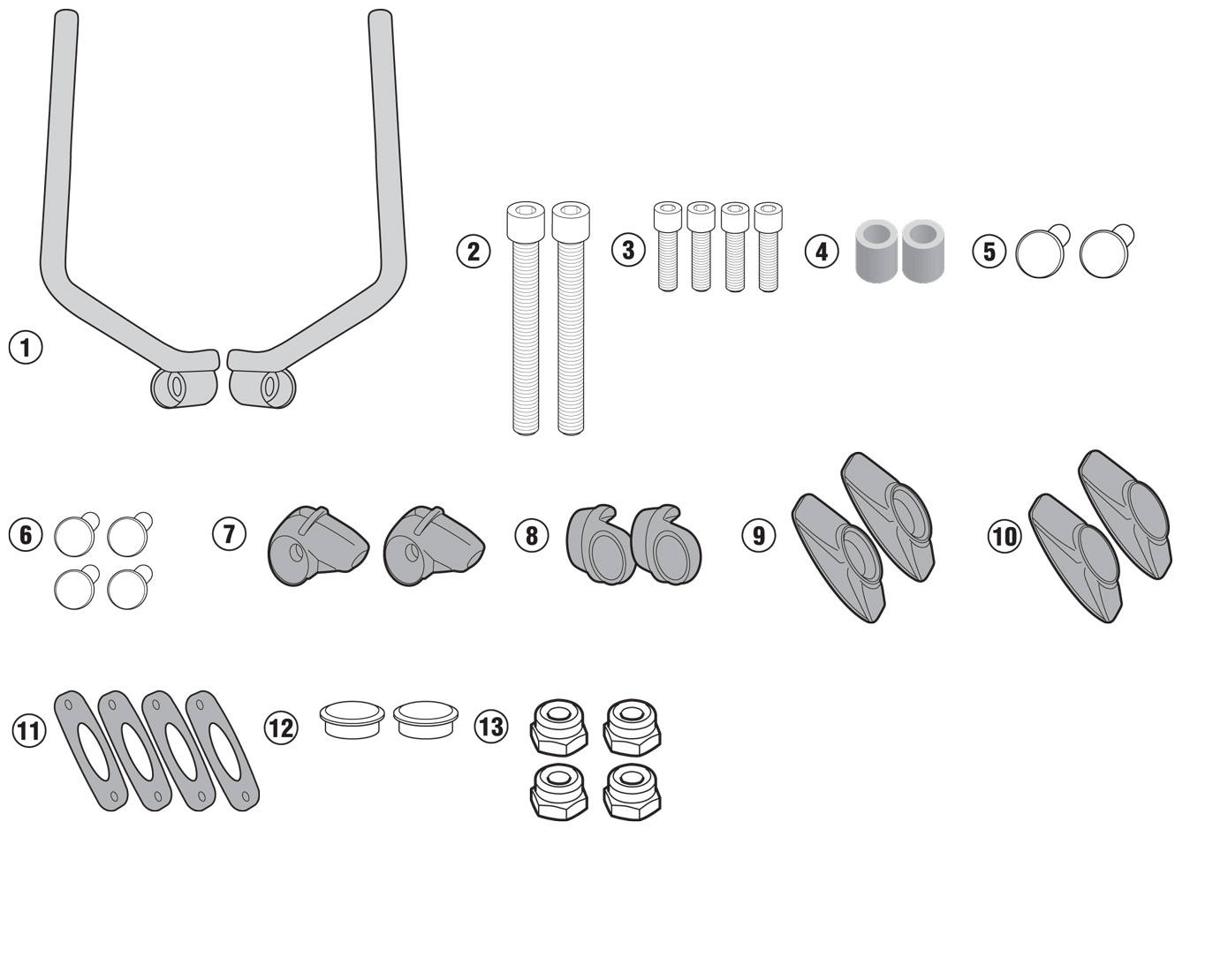 Givi Install Kit A7407a Ducati 250 Scrambler Wiring Diagram Mounting For Windscreen 7407a To Be Mounted On