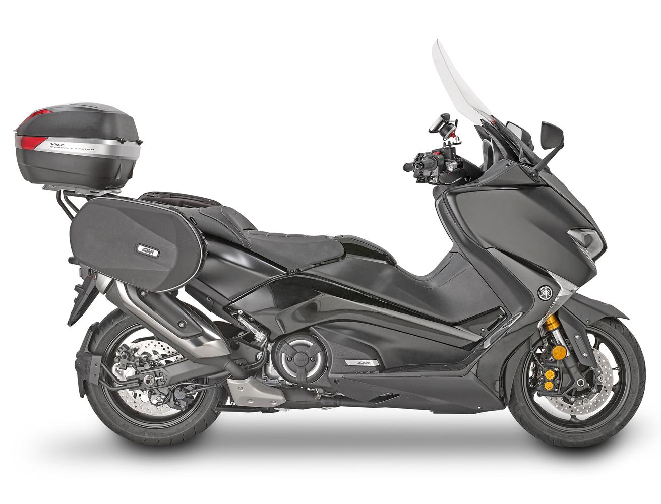 PIASTRA M7 COMPATIBILE CON KYMCO DOWNTOWN ABS 350 i 2017 MOTO E SCOOTER COVER CARBON CATADRIOTTI FUME STAFFA SR6107 KIT BAULETTO BAULE VALIGIA MONOKEY V47NNT GIVI