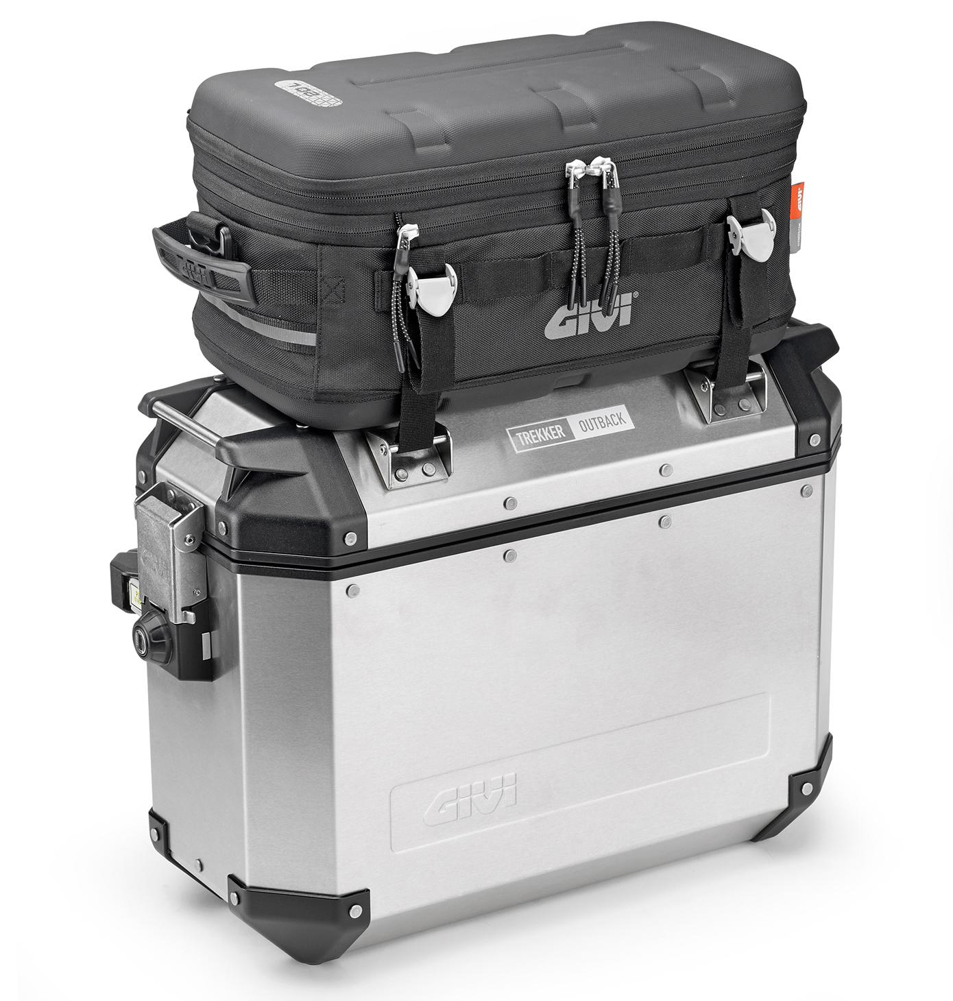 Supporto removibile specifico E148 in acciaio Inox completo di tanica TAN01 per valigie sulle valigie Trekker Outback OBK37AR OBK37AL OBK37BL OBK37BR OBK48AL OBK48AR OBK48BL OBK48BR GIVI