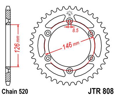 JT Sprockets JTR703.47 47T Steel Rear Sprocket