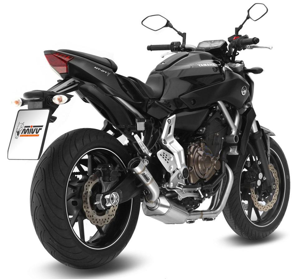 Mivv Complete Exhaust System Yamaha MT-07/FZ-07 High Mount, Speed Edge  Muffler, db killer removable silencer