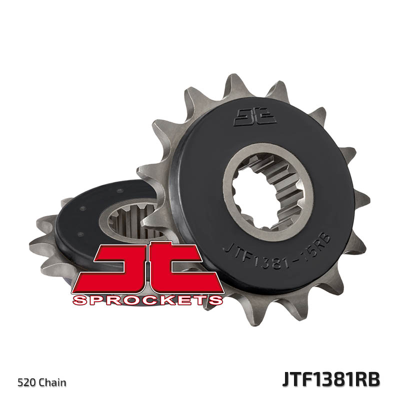 JT Sprockets Rubber Cushioned Front Sprocket Honda CB500F, CB500X, CBR 500  R, 520 chain, 15 teeth