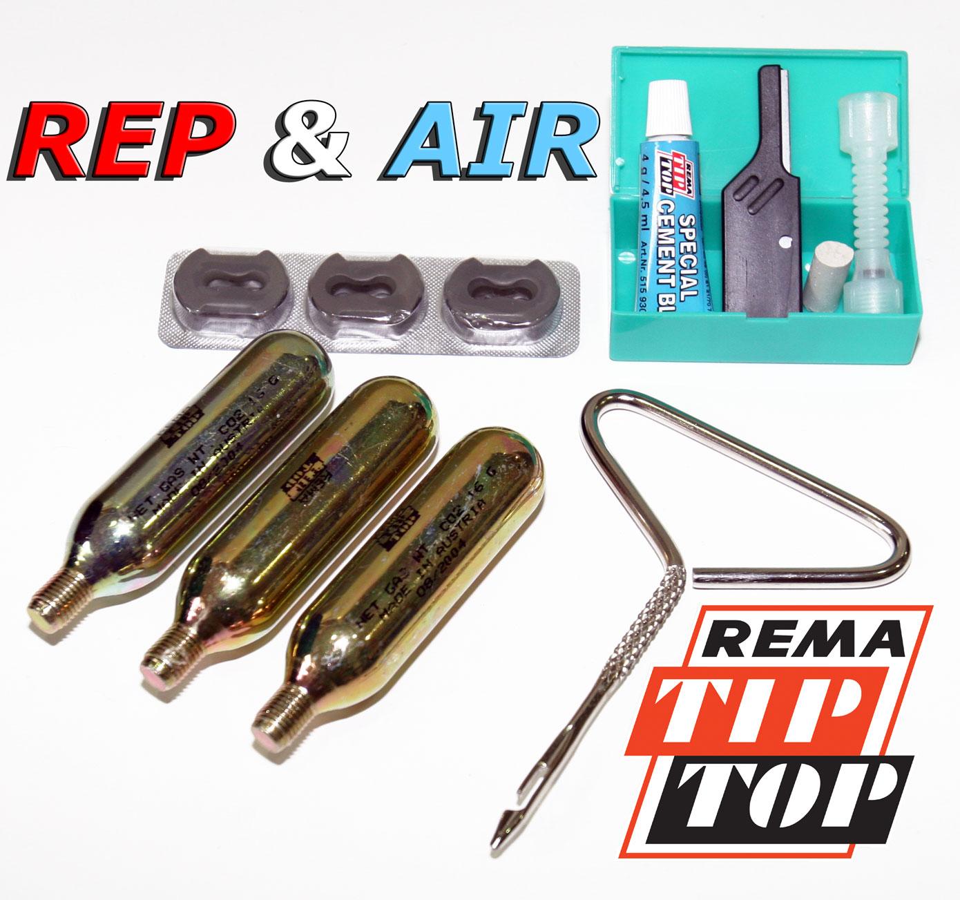 design innovativo 4efcc 13345 Rep & Air originale Rema Tip Top, kit riparazione pneumatici tubeless