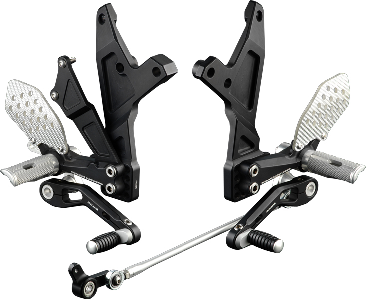 Rizoma REV Rear Sets Buell XB9 R/S/SX, XB12 S/SS/STT/R, color Black