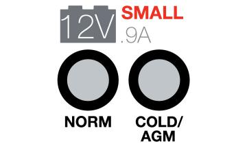 12V Small Mode Norm and Cold/Agm, .9A.